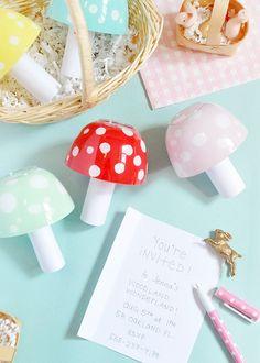 DIY Magic Mushroom Invitation