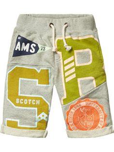 Cut & sew sweatshorts