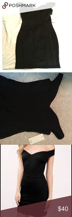 Black off the shoulder cocktail dress Beautiful off the shoulder cocktail dress great for date night or school formal. Never worn! Was sent the wrong item and did not return in time. Tobi Dresses Mini