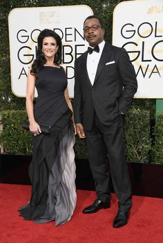 Carl Weathers Photos - Actors Christine Kludjian and Carl Weathers attend the Annual Golden Globe Awards at The Beverly Hilton Hotel on January 2017 in Beverly Hills, California. Golden Globe Award, Golden Globes, Celebrity Couples, Celebrity Style, Interacial Love, Carl Weathers, Biracial Couples, Interracial Family, Mixed Couples