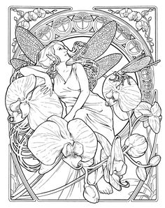 Fairy Orchids coloring page