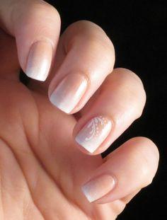 Nailpolis museum of nail art gradient french by chasing shadows nail art в New Nail Designs, Beautiful Nail Designs, Bride Nails, Wedding Nails, French Nails, Nail Art Rosa, Pink Nails, Black Nails, Bright Nail Art