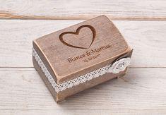 Ringkissen - Hochzeit Ring Kasten, Ringschale, Ring Box - ein Designerstück von InesesWeddingGallery bei DaWanda
