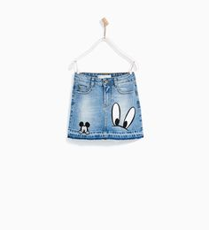 DENIM MICKEY MOUSE SKIRT