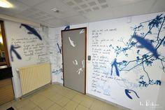 Design mural poétique pour l'agence d'Eure Habitat à Evreux
