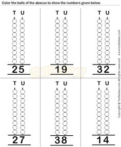 Abacus3 - math Worksheets - preschool Worksheets
