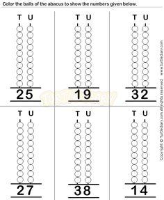 Abacus3 - math Worksheets - preschool Worksheets