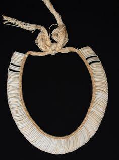 Indigenous shell necklace from the Kuikuro tribe of Xingu - Amazon, Brazil