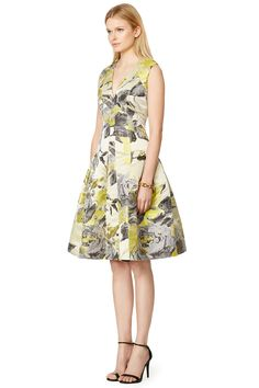 Citrus Flare Dress by Carmen Marc Valvo #RTRXTheGlamourai