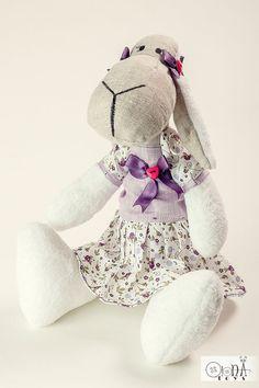 Sheep toy stuffed plush softie lamb tilde doll by OlonaToys