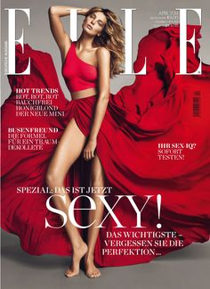 Daria Werbowy, Ukrainian-Canadian model, in Lanvin by Mert Alas & Marcus Piggott for ELLE Germany April 2014 Elle Magazine, Vogue Magazine Covers, Fashion Magazine Cover, Fashion Cover, Magazine Cover Design, Vogue Covers, Magazine Online, Magazine Editorial, Elle Fashion