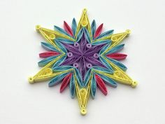 #Snowflake #Yellow #Blue #Purple #Christmas #Tree #Decoration #Winter #Ornaments #Gifts #Toppers #Fillers #Office #Corporate #Paper #Quilling #Quilled #Art You can hang it on Christmas tree, use as fridge magnet, decorate Your bookshelf, dinner table or put it in lovely frame. Also can make an excellent addition to Christmas presents! Dimensions of one snowflake - 4 ″ x 4 ″ (10 cm x 10 cm). Made from 1/4 ″ (5 mm) paper strips of 90 g/m2 paper.