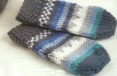 'Harry' knitted mittens