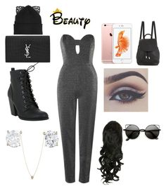 """""""Untitled #259"""" by emilyagustin on Polyvore featuring beauty, Topshop, Yves Saint Laurent, Kate Spade, rag & bone and Silver Spoon Attire"""