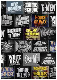 Trailer typography from Warner Bros. movies