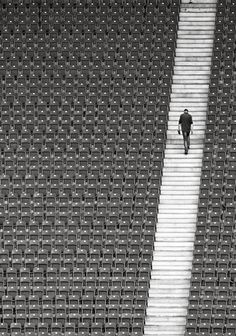 Pattern is the first principal i noticed in this photograph. It is structured as its an arena. Theres two patterns in this image. Theres the chairs and also the stairs which i found really interesting. The photographer has positioned the stairs on an angle which i really like.