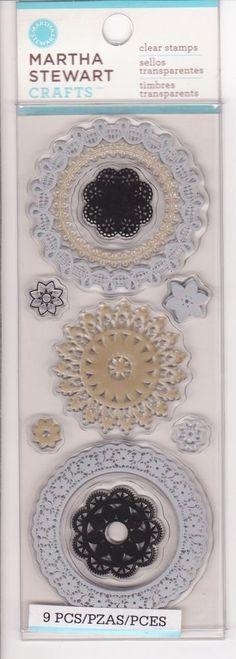 Martha Stewart-Doilies Clear Stamps