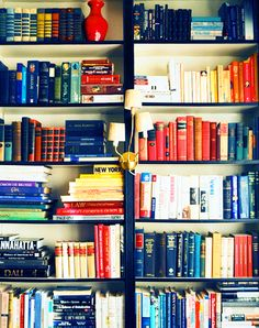 How to Organize Books by Color AND by Genre.