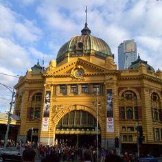 #Melbourne train station.