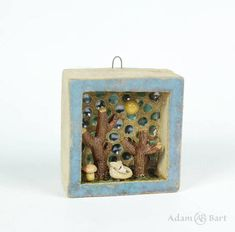 See that tiny fox Isn't it cute Ceramic Diorama/