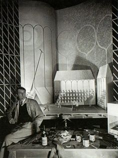 Eric Ravilious, photo by Norman Parkinson. Tennis' exhibit,Sports section of the British Pavilion, Paris International Exhibition, 1937 Angie Lewin, British Artists, Studio Spaces, Royal College Of Art, Art For Art Sake, Wood Engraving, Creative People, Bloomsbury, Artist At Work
