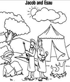 Historia de Abram y Lot para colorear ~ Dibujos Cristianos