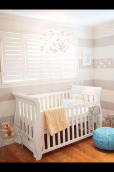 Baby nursery wall stripes