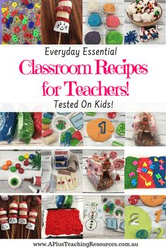 Looking for the perfect playdough or a coloured rice recipe? Maybe you want a fun recipe for procedure writing with your kids? Try these Classroom Recipes For Teachers! Easy Meals For Kids, Fun Easy Recipes, Diy For Kids, Kids Meals, St Patrick Facts, Cardboard Gingerbread House, Educational Activities For Kids, Sensory Activities, Cooking In The Classroom