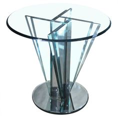 Glass Center Table   | From a unique collection of antique and modern center tables at http://www.1stdibs.com/furniture/tables/center-tables/