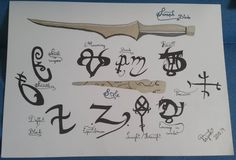 Mortal instrument, Shadowhunters runes, stele and seraph blade