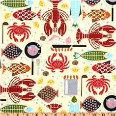 Hoodie's Collection Bistro Menu Yellow, $8.98/yard at fabric.com. I want napkins made out of this.