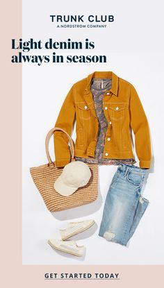 """Trunk Club stylists teach you how to wear your favorite light denim into the fall. Take our style quiz to be paired up your own personal stylist. Jean Outfits, Casual Outfits, Cute Outfits, Fashion Outfits, Womens Fashion, Fashion Trends, Trending Fashion, Ladies Fashion, Fashion Ideas"