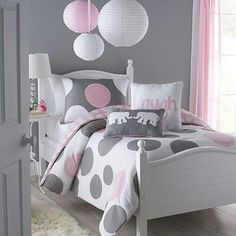 Super cute!!! Wanting colors to be Pink, White and silver...but grey looks good as well.