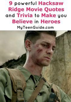 Hacksaw Ridge already has movie critics whispering about awards! I think this is going to be one of the most unexpected movies to watch this year, and who doesn't like and underdog? Check out these insider Hacksaw Ridge movie quotes and trivia for this inspirational flick!