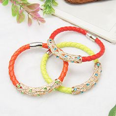 PandaHall Jewelry—PU Imitation Leather Bracelets... | PandaHall Beads Jewelry Blog