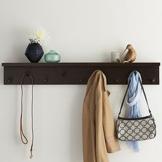 Andes Wall Mounted Coat Rack | Crate and Barrel