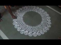 Innovative corner rangoli design using quilling comb, fork and cotton bud | Rangoli by Poonam Borkar - YouTube