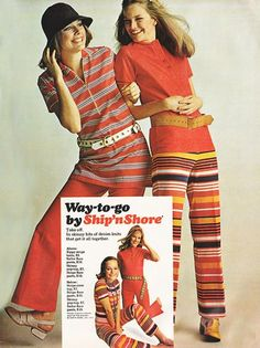 March 'Take off. In skinny bits of denim knits that get it all together.' Ship 'n Shore with Lucy Angle Red Fashion, Vintage Fashion, High School Fashion, Seventies Fashion, Magazine Images, Seventeen Magazine, Teen Models, Fashion History, Everyday Fashion