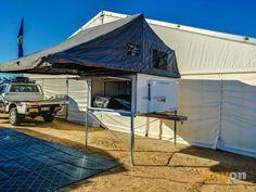 Traymate roof top tent - slide on aluminium ute canopy