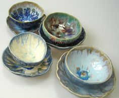 not your granny's teacups! by clayshapes, via Flickr