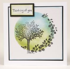 We love the focal design on Jackie Hadley's Thinking of you card.  Achieve the look with the A Walk in the Park stamp set from the 150th issue of Simply Cards & Papercraft!