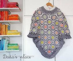 Secret garden crochet square for poncho or shawl Granny Square Häkelanleitung, Granny Square Crochet Pattern, Basic Crochet Stitches, Crochet Basics, Crochet Gratis, Diy Crochet, Crochet Shawl, Crochet Hooks, Shawl Patterns