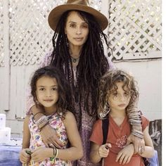 Lisa Bonet and two of her little ones by Jason Mamoa