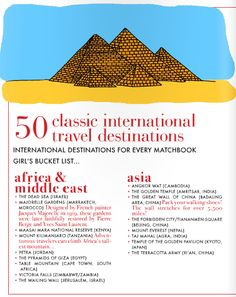Classic International Travel Destinations