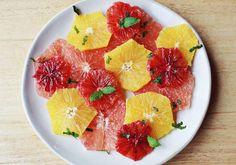 Yum! Citrus Salad with Yogurt Dressing.