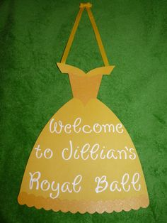 Belle Birthday Sign