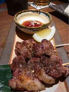 Japanese food yakitori