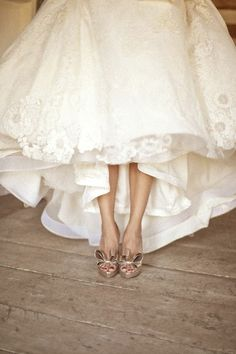 Can't wait to take a pic like this with my pink wedding shoes :)