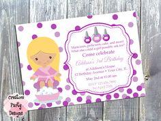 Girls Nail Party Invitation - Nail Birthday Invite - Manicure Pedicure Birthday Party Invitation - Birthday Invitation Manicure Girl by CreativePartyDesigns on Etsy