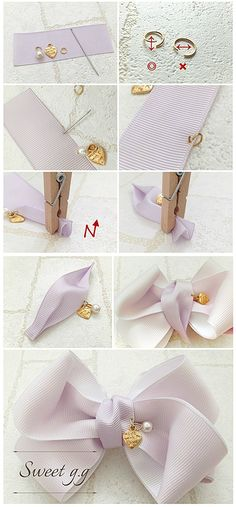 Discover thousands of images about DIY bun bow. Ribbon Art, Diy Ribbon, Ribbon Crafts, Ribbon Bows, Ribbons, Diy Hair Bows, Diy Bow, Diy Hair Accessories, Handmade Accessories
